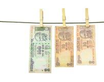 Индийские рупии бумажных денег Стоковое фото RF