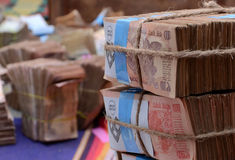 Индийские рупии стога Стоковое фото RF