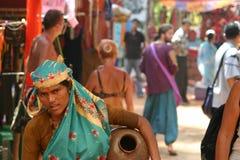 Индийские специя и продовольственный рынок Стоковое Фото