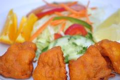 Индийский конец еды вверх Стоковые Изображения