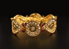 Индийские традиционные Bangles золота Стоковая Фотография