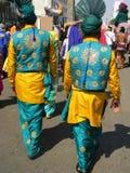 Индийские люди в традиционной шлихте Стоковые Изображения