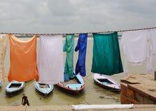 Индийские люди моя и суша одежду Стоковое Фото