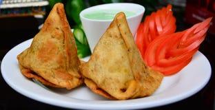 индийские samosas стоковое изображение rf
