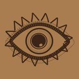 Индийский ацтекский племенной глаз Стоковое Изображение