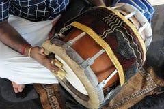 Индийский барабанчик Mridgam Стоковое Изображение