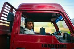Индийский водитель грузовика Стоковое фото RF
