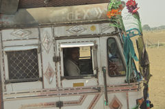 Индийский водитель грузовика Стоковые Изображения RF