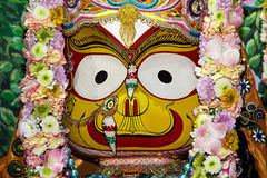 Индийский крупный план Subhadra божества стоковое фото