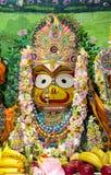 Индийский крупный план Subhadra божества стоковая фотография