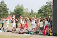 Индийский класс мастера танца Стоковое фото RF
