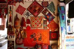 Индийский магазин тканей Стоковые Фотографии RF