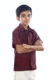 Индийский мальчик с традиционным платьем стоковое изображение rf