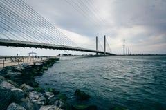 Индийский мост реки над индийским входом реки около Bethany Стоковые Фото