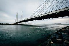 Индийский мост реки над индийским входом реки около Bethany Стоковое Изображение RF