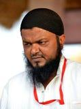 Индийский мусульманский человек с портретом бороды стоковые фото