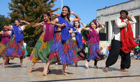 Индийский народный танец стоковое изображение