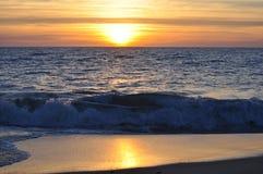 Индийский океан западная Австралия захода солнца Стоковая Фотография RF
