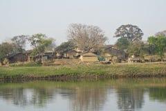 Индийский пейзаж деревни стоковые изображения rf