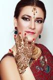 Индийский портрет женщины стоковые фото