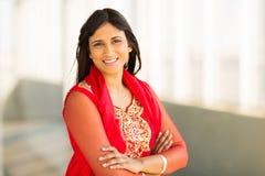 Индийский портрет коммерсантки Стоковое фото RF