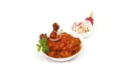 Индийский - подливка цыпленка Стоковое Изображение