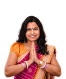 Индийский приветствовать женщины. Стоковое Изображение RF