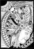 Индийский племенной дизайн Стоковые Фотографии RF