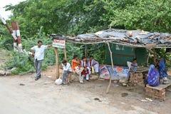 Индийский стоп деревни стоковые изображения rf