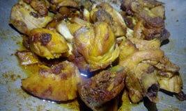 Индийский сухой цыпленок Стоковая Фотография