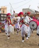 Индийский традиционный танец Стоковые Фото