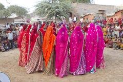 Индийский традиционный танец Стоковая Фотография