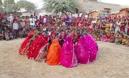 Индийский традиционный танец Стоковые Изображения