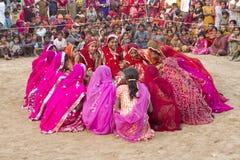 Индийский традиционный танец Стоковое Фото