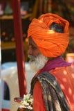 индийский тюрбан человека Стоковая Фотография RF