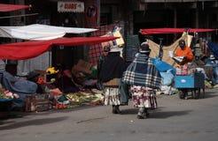 Индийский уличный рынок в Ла Paz, Боливии Стоковая Фотография