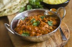 Индийский цыпленок Balti стоковые изображения rf