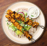 Индийский цыпленок Tikka Kebabs Стоковые Изображения RF
