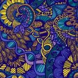 Индийский этнический орнамент картина безшовная Иллюстрация штока