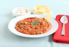Индийский Pilaf пшена верхней части Брайна еды Стоковое фото RF