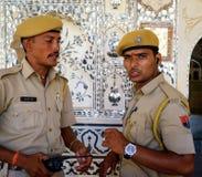 2 индийских полицейския Стоковые Изображения