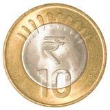 10 индийских рупий монетки Стоковые Изображения