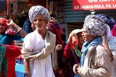 2 индийских люд одетого в одеждах традиции Стоковое Изображение