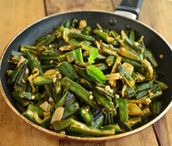 Индийское блюдо-Bhindi Masala Стоковое фото RF