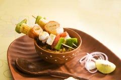 Индийское блюдо Kathi Kebab Стоковое Фото