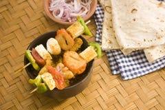 Индийское блюдо Kathi Kebab Стоковые Изображения RF