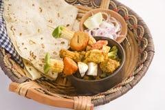 Индийское блюдо Kathi Kebab Стоковая Фотография