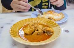 Индийское блюдо shaak masala цветной капусты еды Стоковое Изображение RF