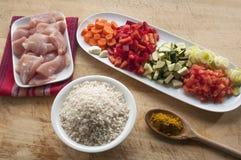 Индийское карри цыпленка масла с рисом Стоковые Изображения