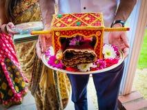 Индийское приглашение свадьбы Стоковые Изображения RF